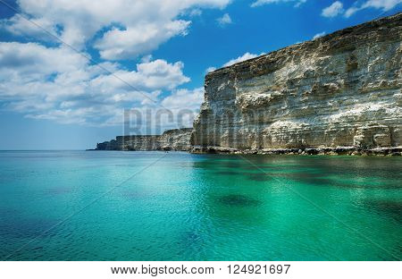 seascape beautiful views of the rocky cliffs to the sea Tarhankut Crimea Russia