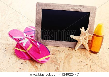 summer time on the beach - leisure time