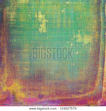 Abstract grunge background or damaged vintage texture. With different color patterns: yellow (beige); green; blue; red (orange); purple (violet); pink