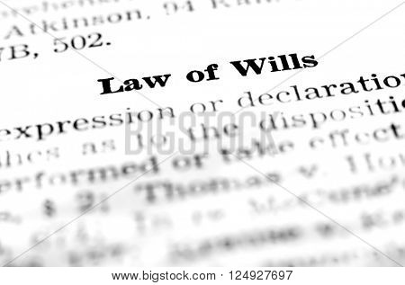 Law of wills definition dealing with estate planning