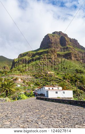 Masca village secluded in mountains of Tenerife Canary islands Spain