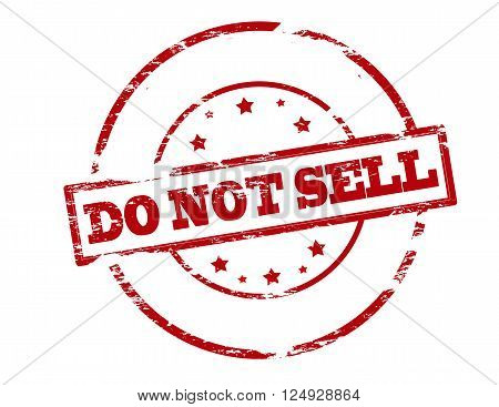 Rubber stamp with text do not sell inside vector illustration