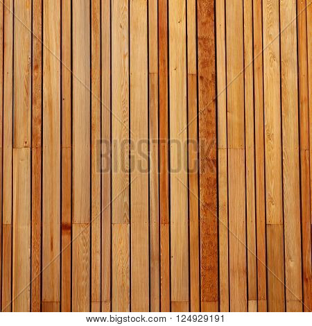 Vertical pattern of wood cladding on a building