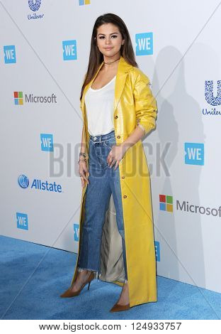 Selena Gomez at the WE Day California held at the Forum in Inglewood, USA on April 7, 2016.