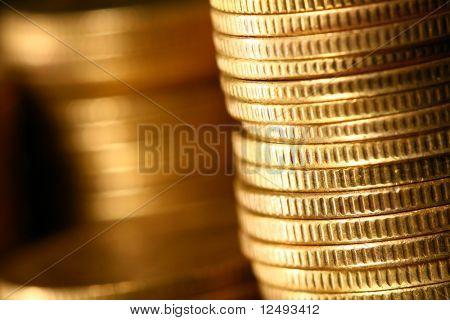 ouro pilhas de moedas