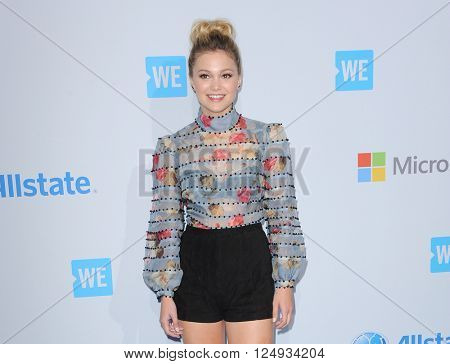 Olivia Holt at the WE Day California held at the Forum in Inglewood, USA on April 7, 2016.