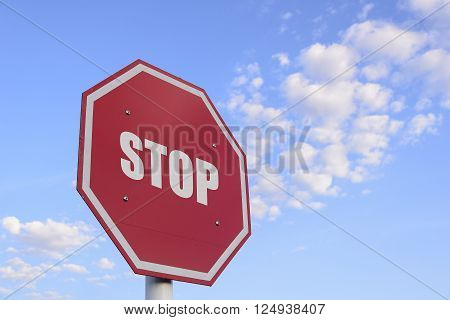the stop traffic sign with the skt