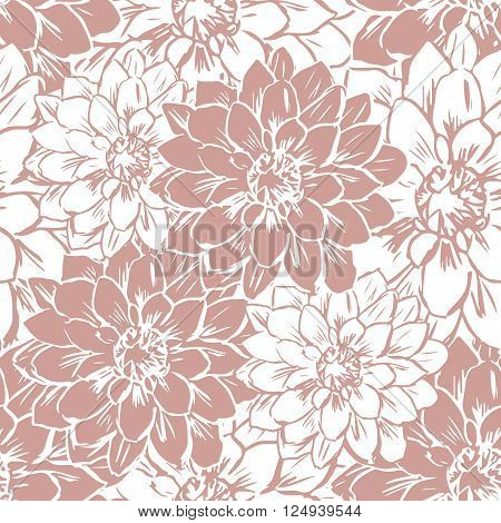Hand drawn seamless floral pattern. Vector illustration.