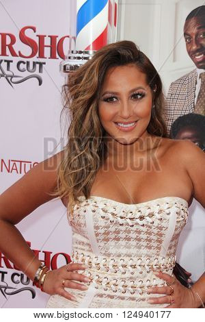 LOS ANGELES - APR 6:  Adrienne Bailon at the Barbershop - The Next Cut Premiere at the TCL Chinese Theater on April 6, 2016 in Los Angeles, CA
