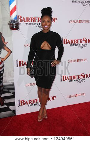 LOS ANGELES - APR 6:  Torrei Hart at the Barbershop - The Next Cut Premiere at the TCL Chinese Theater on April 6, 2016 in Los Angeles, CA