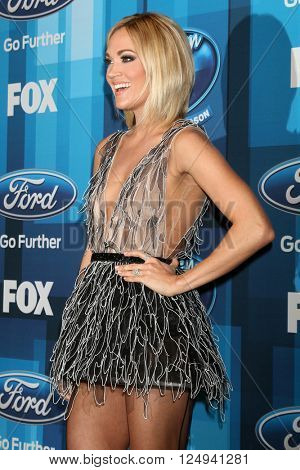 LOS ANGELES - APR 7:  Carrie Underwood at the American Idol FINALE Arrivals at the Dolby Theater on April 7, 2016 in Los Angeles, CA