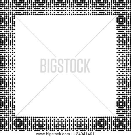 Halftone background. Halftone dots frame. Abstract vector illustration. illustration esp 10