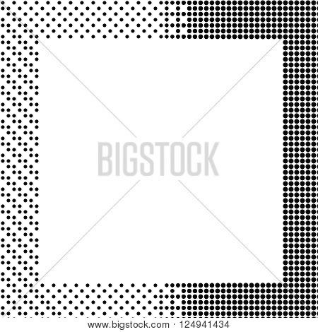 Halftone background.Halftone dots frame. Abstract vector illustration. illustration esp 10
