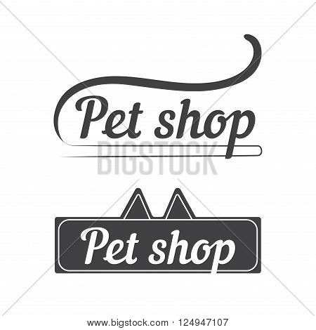 Concept for pet shop, pets care and grooming, veterinary. Pet shop logo design