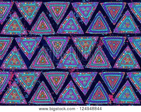 Background Triangles Abstract Ethnic Trendy Summer Colors 1