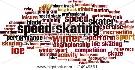 Speed skating word cloud concept. Vector illustration