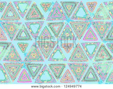 Background Triangles Abstract Ethnic Trendy Summer Colors 2