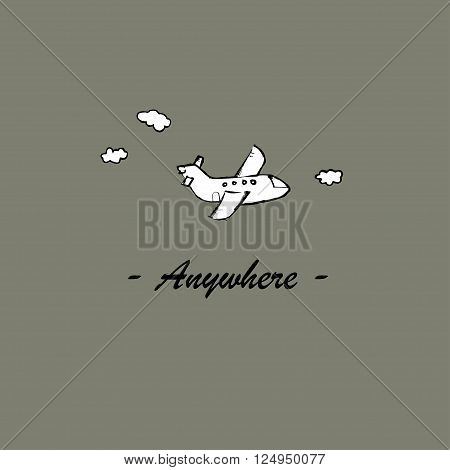 Anywhere.  Illustration template for the card or poster.
