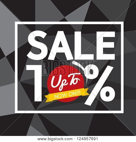 Sale Up To 10 Percent Banner Vector Illustration. EPS 10