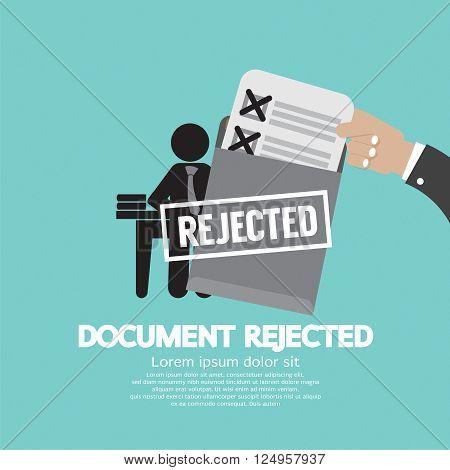 Document Rejected Vector Illustration . EPS 10