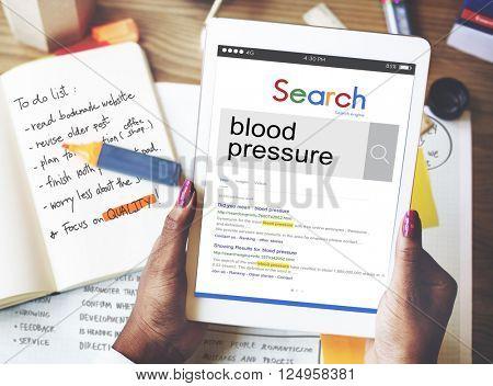 Blood Pressure Healthcare Heartbeat Symptom Concept