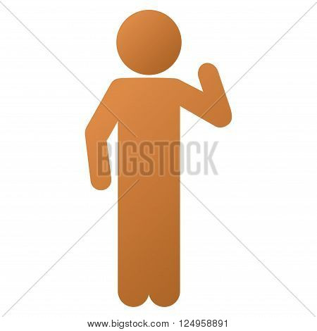 Child Opinion vector toolbar icon for software design. Style is a gradient icon symbol on a white background.