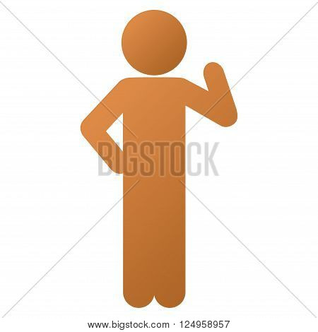 Child Proposal vector toolbar icon for software design. Style is a gradient icon symbol on a white background.