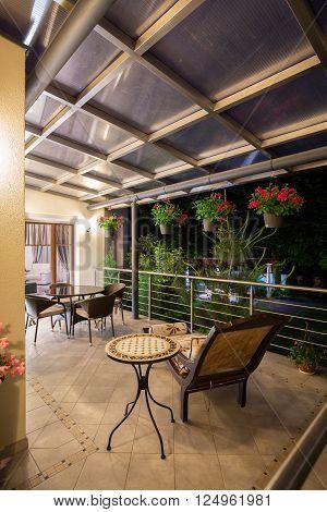 Stylish And Illuminated Terrace