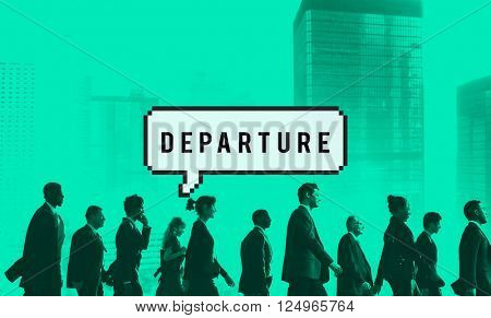 Departure Airport Destination Depart Deviation Concept