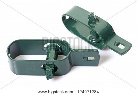 tensioner for wire fence in front of white background