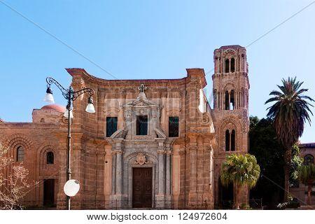 Medieval Church Saint Mary of the Admiral in Palermo (Santa Maria dell'Ammiraglio)