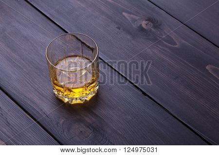 Whiskey On Dark Wood