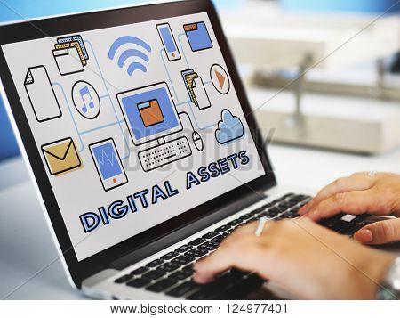 Digital Assets Accessible Unlock Information Concept