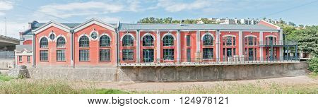 PORT ELIZABETH SOUTH AFRICA - FEBRUARY 27 2016: The restored Tramways Building in Baakens Valley in Port Elizabeth built in 1897