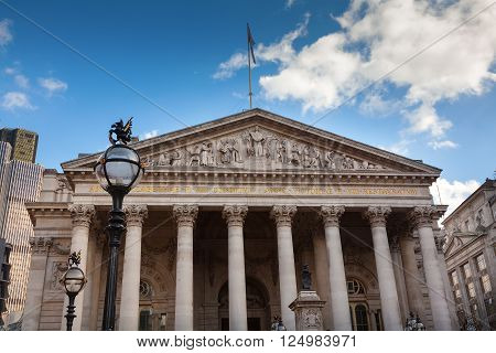 The Royal Exchange in the heart of London