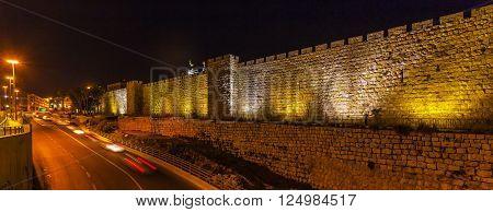 Walls Of Ancient City, Jerusalem, Israel