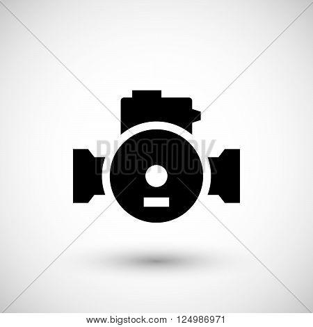 Water pump icon isolated on grey. Vector illustration