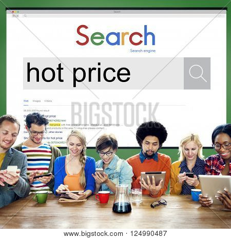 Global Search Website Browser Hot Price Concept