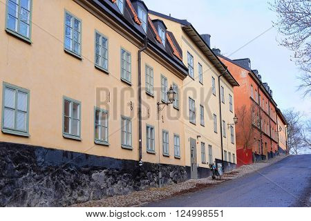 Multystoried inhabited buildings in Stockholm, Sweden