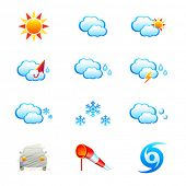 stock photo of hurricane clips  - Weather icon - JPG