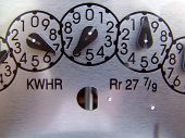 stock photo of electricity meter  - Electricity Gage