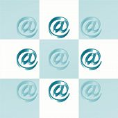 Email @ Signs Checkerboard