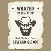 wanted  template poster