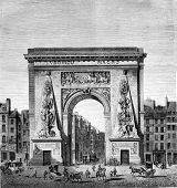 Постер, плакат: Reign of Louis XIV Porte Saint Denis by Francois Blondel 1673 vintage engraved illustration Maga