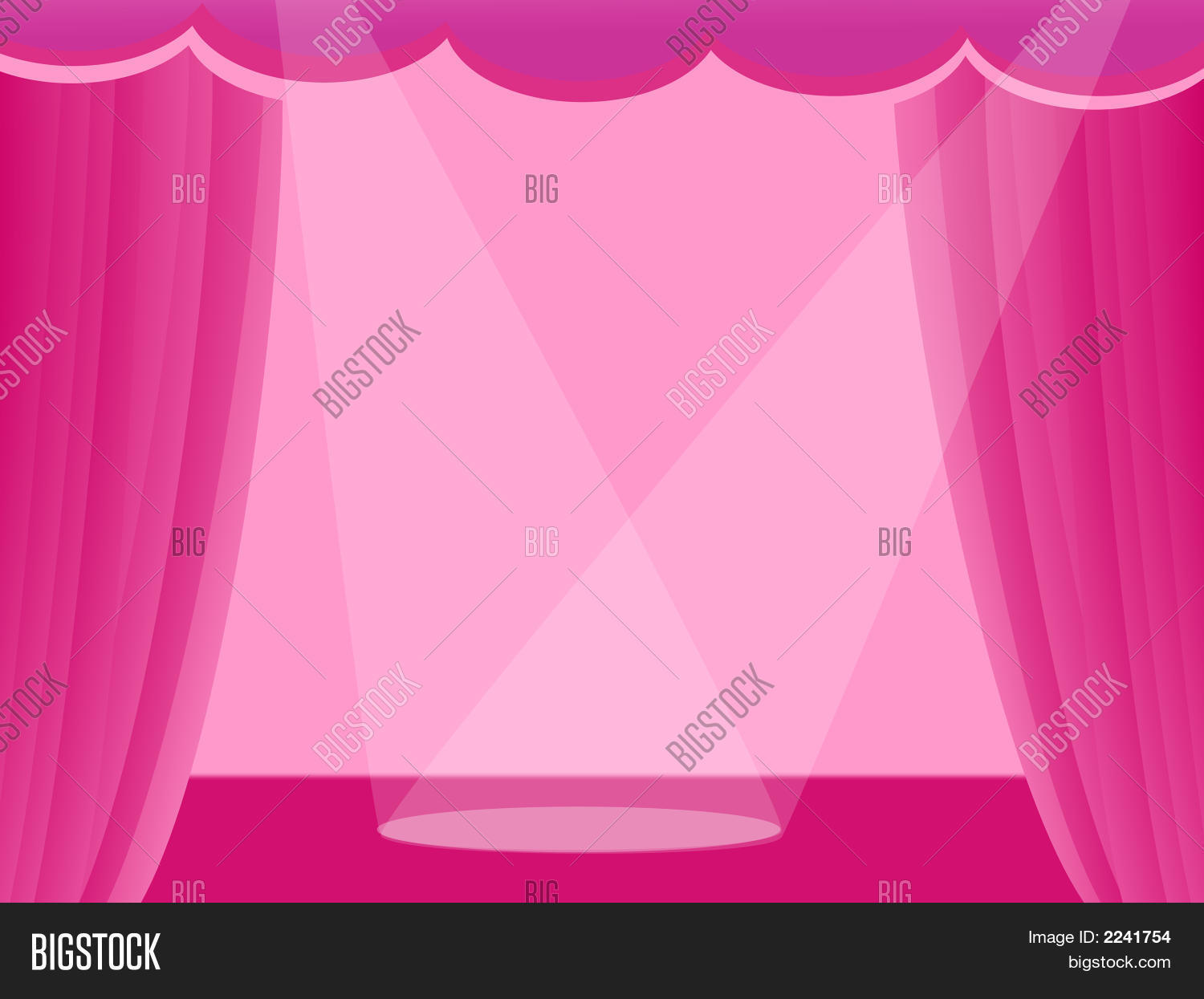 Light pink curtains - Pink Curtains With Light On Stage
