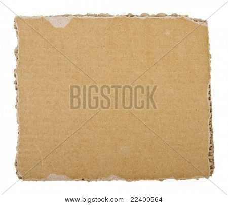 cardboard sheet background  isolated on white background
