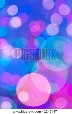 Colored circular lights blur