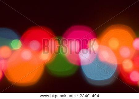 blur lights , defocused