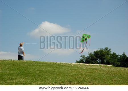 Man And Kite