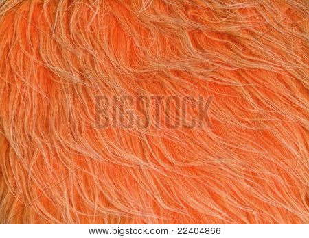 Long  orange artificial fur textures